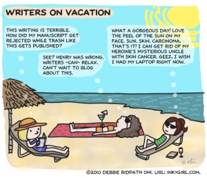 Writers on Vacation by Debbie Ohi
