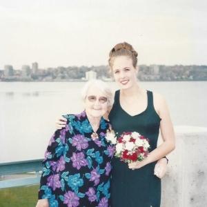 Granny at the Lake and Lydia - Val's Wedding2